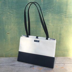 90's Kate Spade Two-Tone Structured Shoulder Bag